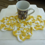 Hot & Cold Flower Coaster ~ DragonFlyMomof2 Designs