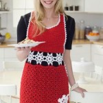 Snowflake Hostess Apron ~ Tammy Hildebrand - Red Heart