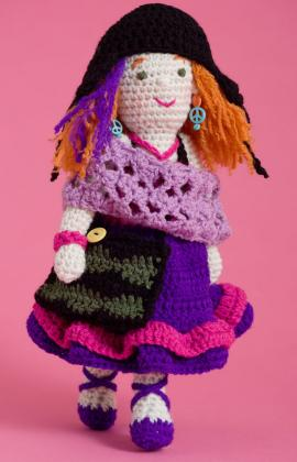 Artistic Annie Doll by Michele Wilcox for Red Heart at Yarnspirations