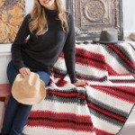 Textured Stripes Throw ~ Mary Jane Protus - Red Heart