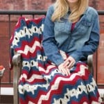 Stars & Stripes Ripple Throw ~ Leigh K. Nestor - Red Heart