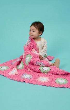 Flower Baby Blanket by Katherine Eng for Red Heart
