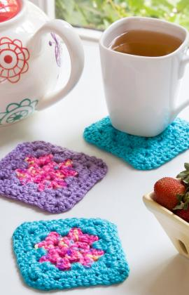 Single Square Coasters ~ Red Heart