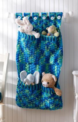 Toy Pocket Wall Hanging by Michele Wilcox for Red Heart/Yarnspirations