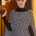 Sparkling Poncho with Arm Slits ~ Jenny King - Red Heart
