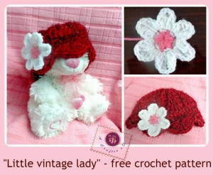 """Little Vintage Lady"" Baby Hat ~ Be A Crafter xD"