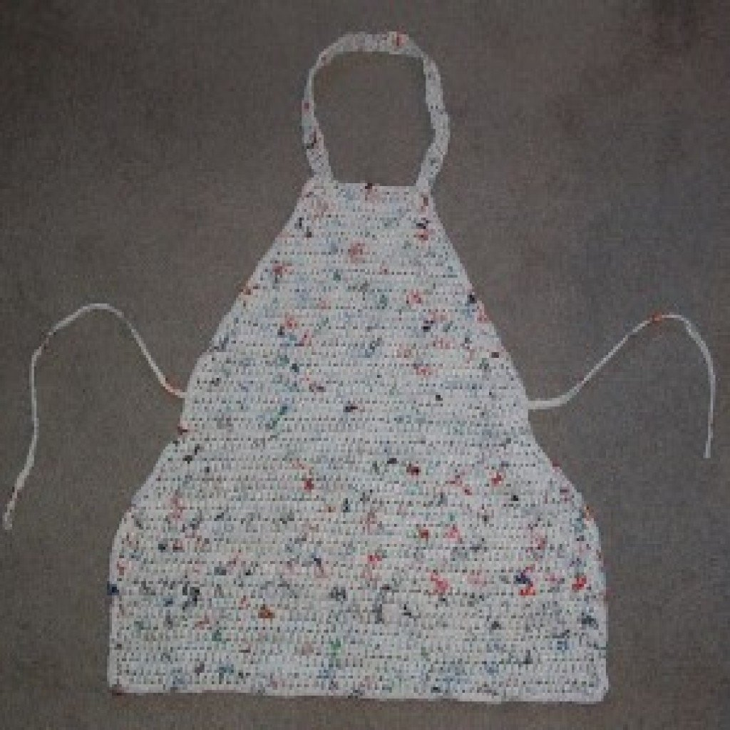 Plarn Apron by My Recycled Bags