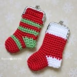 Crochet Christmas Stocking Coin Purse by Repeat Crafter Me