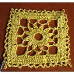 Bedspread Square by Patty's Filet and Crocheting Page