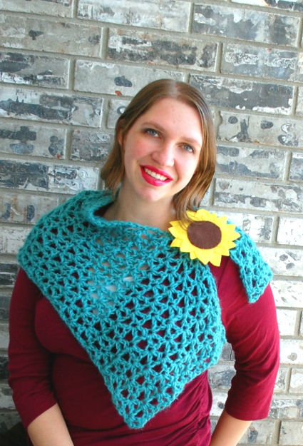 Chicory Shoulder Wrap by Melissa Mall - Crochetvolution
