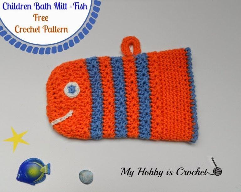 Fish Bath Mitt by My Hobby is Crochet