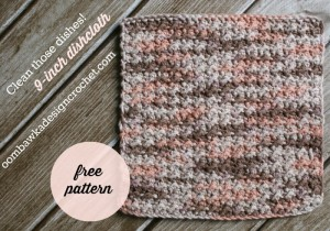 Clean Those Dishes - 9-inch Dishcloth by Oombawka Design