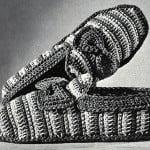 Striped Slippers ~ Free Vintage Crochet