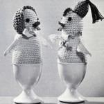 Cock-a-Doodle Egg Warmers ~ Free Vintage Crochet