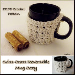 Criss-Cross Reversible Mug Cozy ~ CrochetN'Crafts