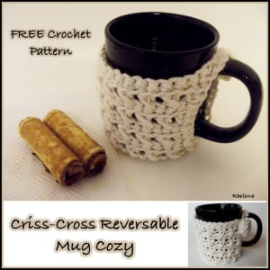 Cross Stitch Mug Cozy by CrochetNCrafts