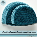 Double Crochet Beanie - Multiple Sizes ~ Oombawka Design