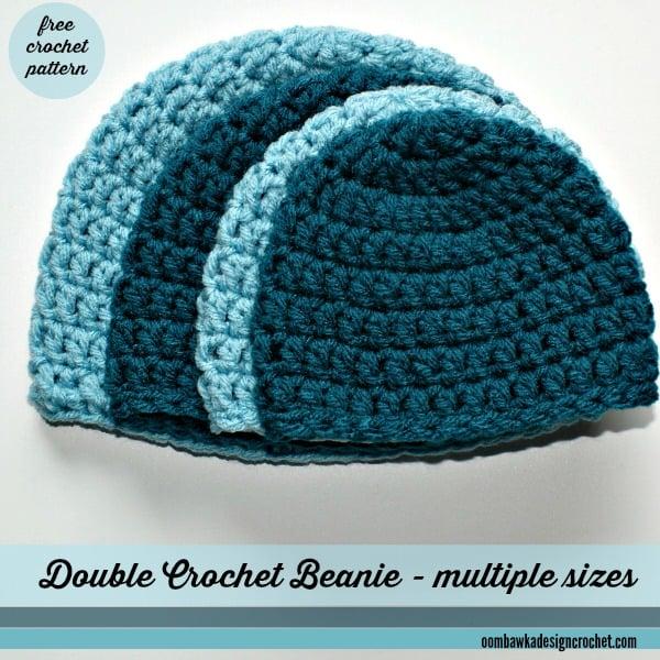 Double crochet beanie free crochet pattern dt1010fo
