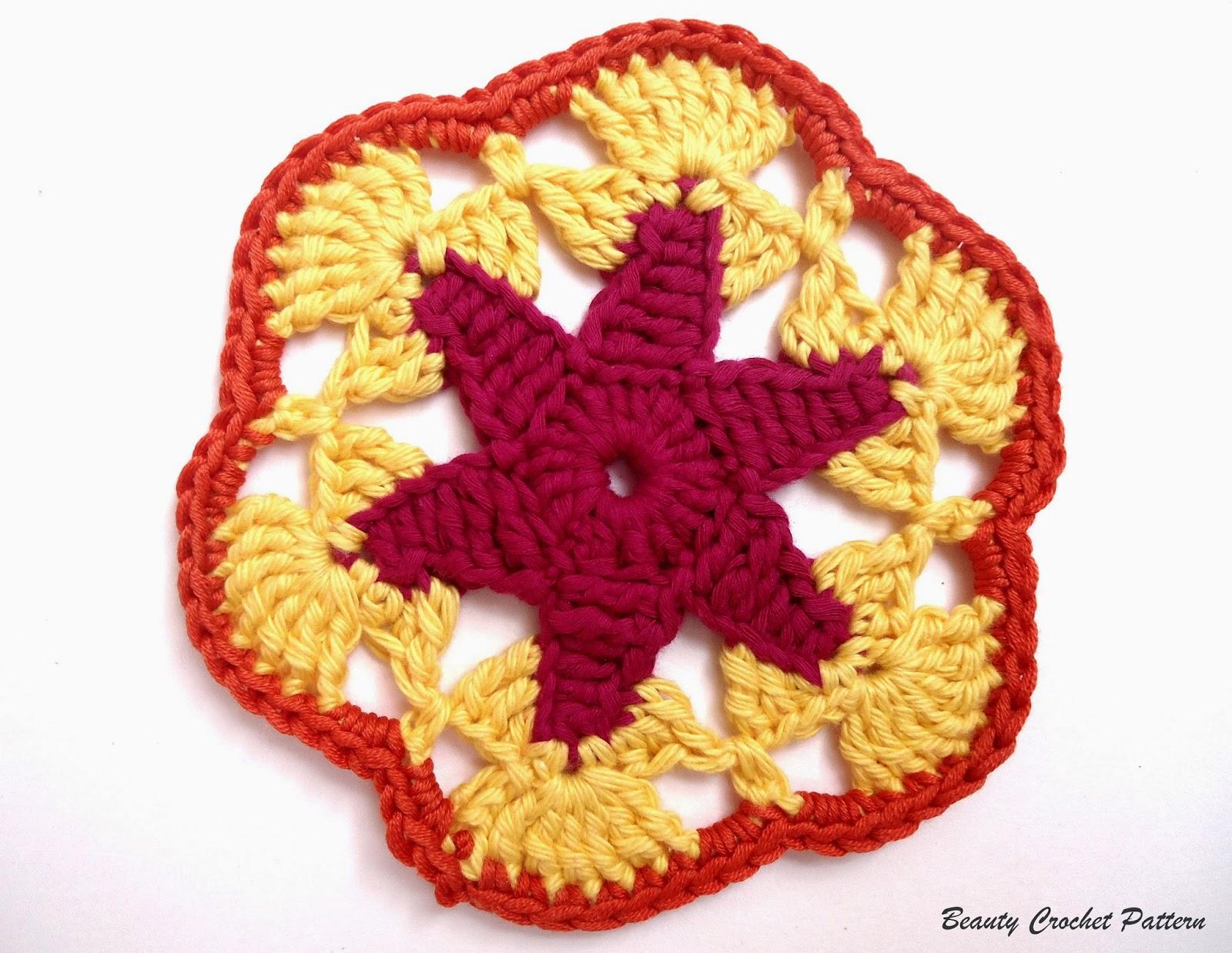 Star Hexagonal Motif ~ Beauty Crochet Pattern