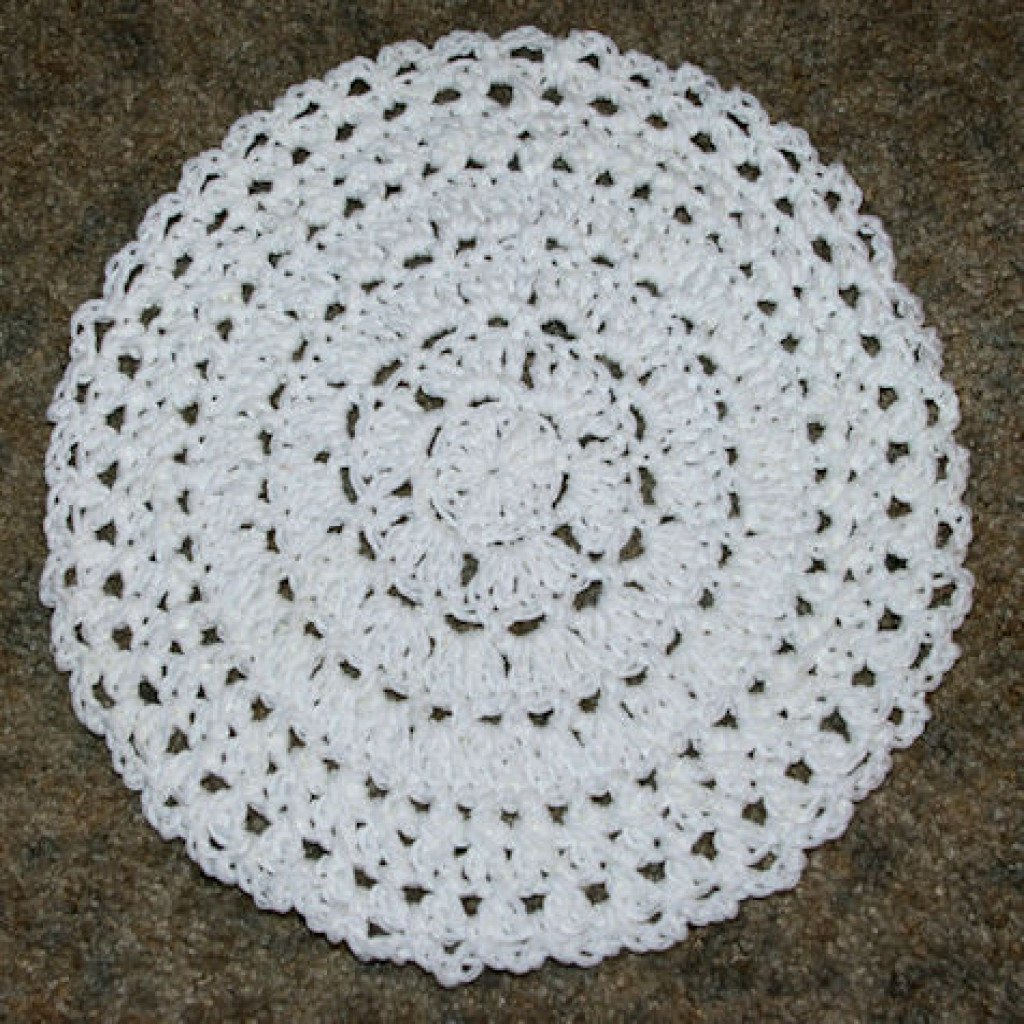 In the Round Dishcloth by Crochet 'N' More