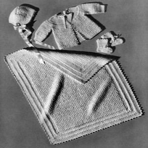Infant's Star Stitch Set ~ Free Vintage Crochet
