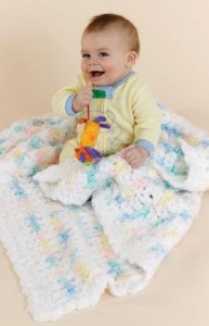 Crochet Contented Baby Blankie ~ Joyce Nordstrom - Red Heart