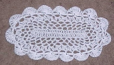 Oval Thread Doily by Crochet 'N' More