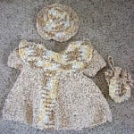 Baby Dress, Hat & Purse Set ~ Donna's Crochet Designs