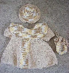 Baby Dress, Hat & Purse Set ~ Donna's Crochet Designs