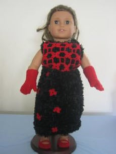 American Girl Boa Evening Gown by Donna's Crochet Designs