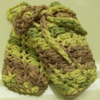 Puffy Soap Saver by CrochetnCrafts.