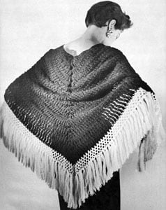 Castanet Shawl by Free Vintage Crochet