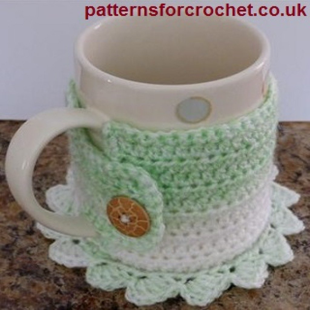 Coaster Mug Cosy by Patterns For Crochet