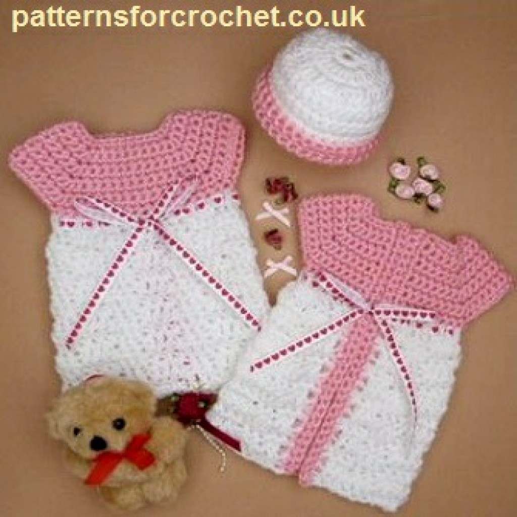 Micro Preemie Gown and Hat by Patterns For Crochet
