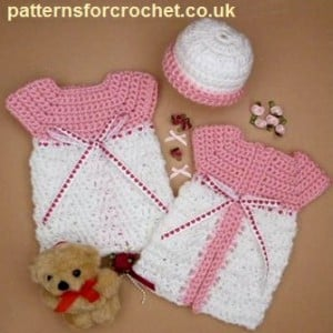 Micro Preemie Gown and Hat ~ Patterns For Crochet