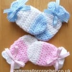 Baby Mitts ~ Patterns For Crochet