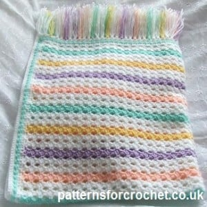 Colorful Afghan Blanket ~ Patterns For Crochet