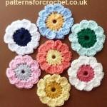 Summer Flower Motif ~ Patterns For Crochet