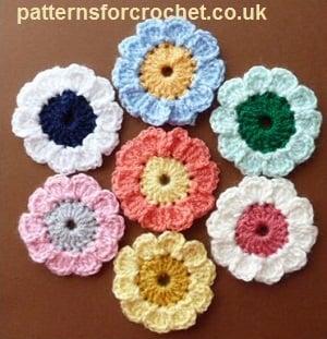 Summer Flower Motif by Patterns For Crochet