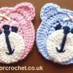 Teddy Bear Face Applique ~ Patterns For Crochet