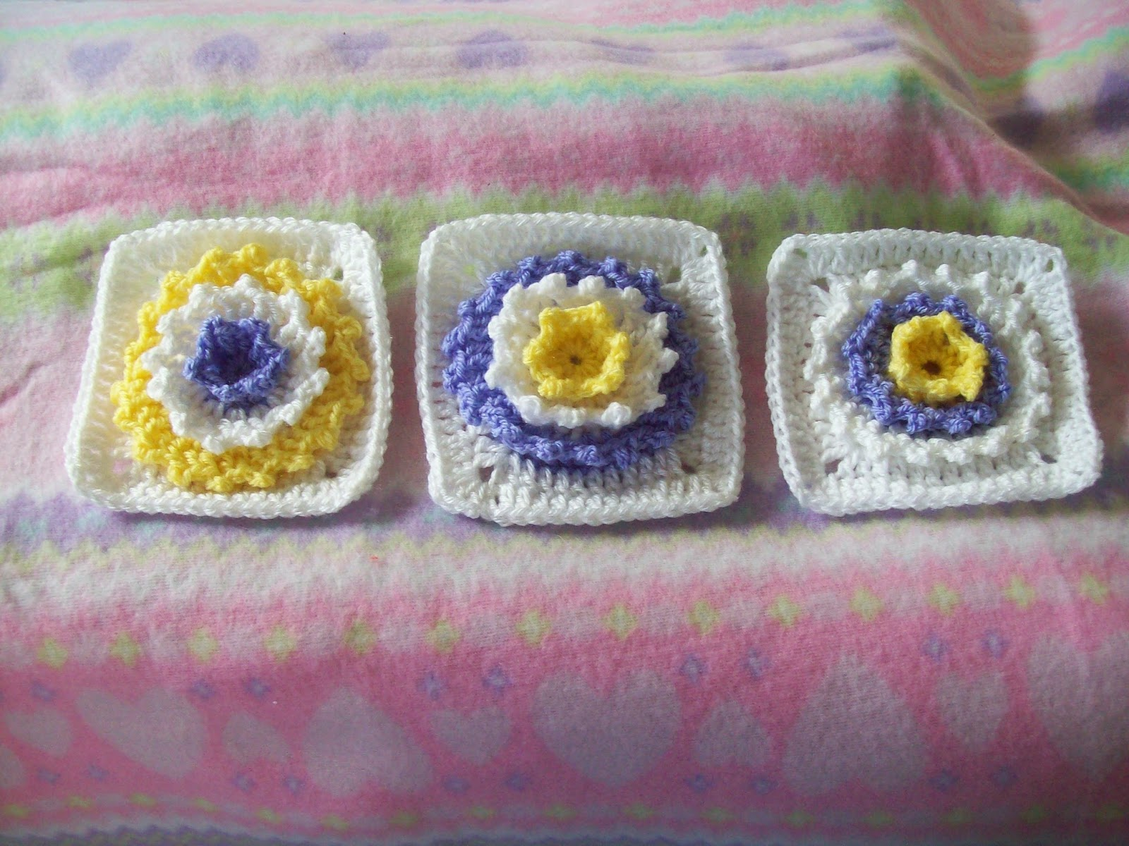Arise and Shine-Flower Square by Cats-Rockin-Crochet
