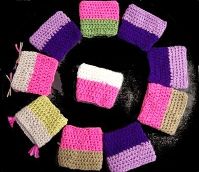 Quick and Easy Crocheted Coffee Cup Cozey by Cats-Rockin-Crochet