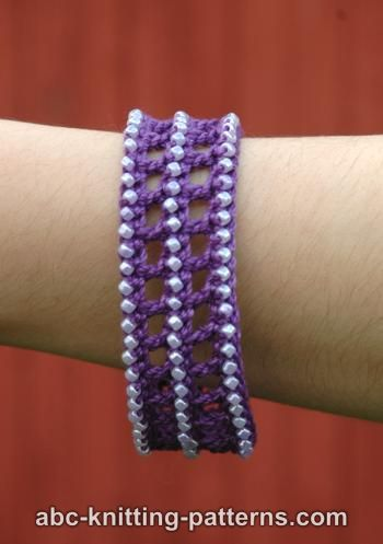 Classical Antiquity Bracelet by ABC Knitting Patterns