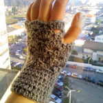 It's Almost Christmas Fingerless Gloves by The Anarchist Knitter