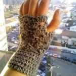 It's Almost Christmas Fingerless Gloves ~ The Anarchist Knitter