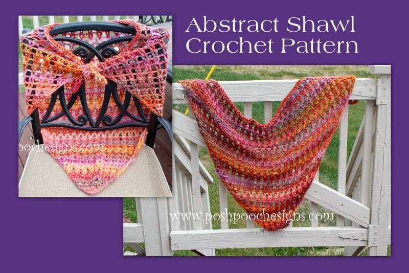 Abstract Shawl by Sara Sach of Posh Pooch Designs