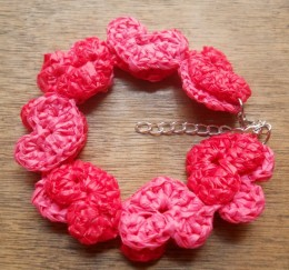 Chains of Hearts Crochet Bracelet by MoiraCrochets