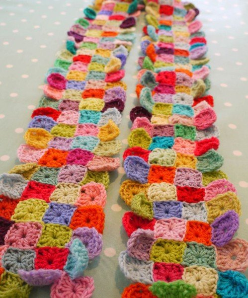 Little Squares Scarf by Do You Mind if I Knit