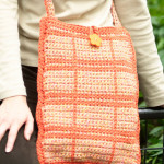 Outlined Squares Shoulder Bag ~ Leslie Blackmon - Red Heart