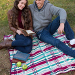 Plaid Picnic Throw ~ Ann Regis - Red Heart